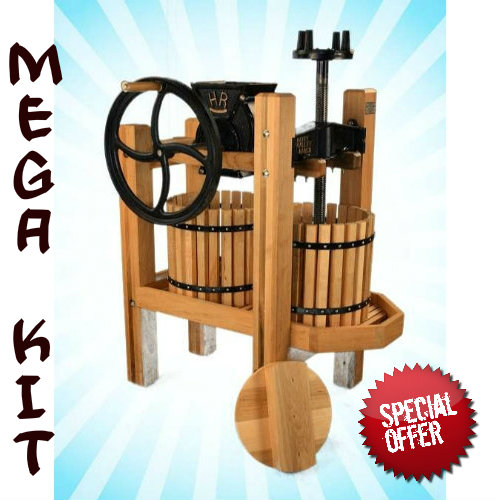 American Harvester Cider Press & Grinder MEGA Kit